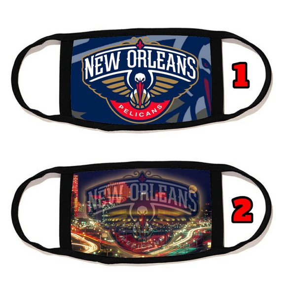 2 PACKS New Orleans Pelican face mask face cover